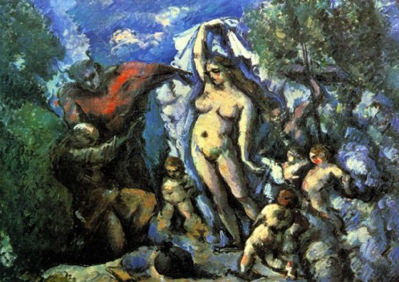 Cezanne, Paul: The Temptation of St. Anthony. Fine Art Print/Poster. Sizes: A4/A3/A2/A1 (004234)